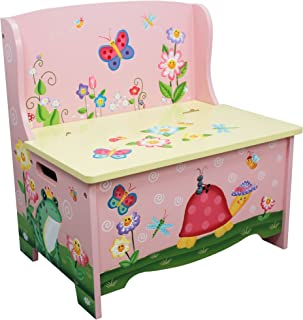 Fantasy Fields - Magic Garden Thematic Kids Storage Bench | Imagination Inspiring Hand Crafted & Hand Painted Details | Non-Toxic, Lead Free Water-based Paint