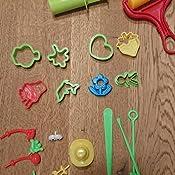 BESTZY Werkzeuge f/ür Spielknete Zuf/ällige Farben 37 Modellierwerkzeug mit Teig-Extruder Walzenform-Kit Schaufel und Schneidwerkzeuge
