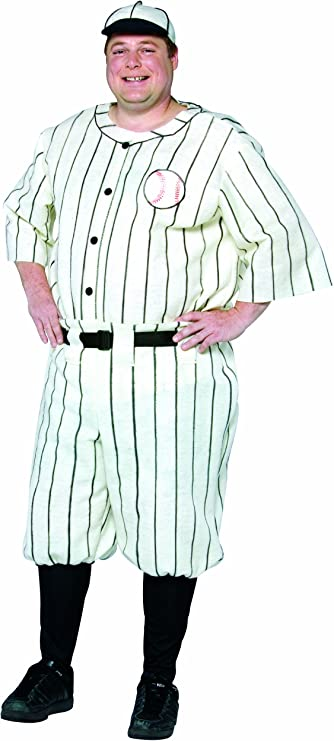 Vintage Men's Costumes – 1920s, 1930s, 1940s, 1950s, 1960s Rasta Imposta Plus-Size Old Tyme Baseball Player  AT vintagedancer.com