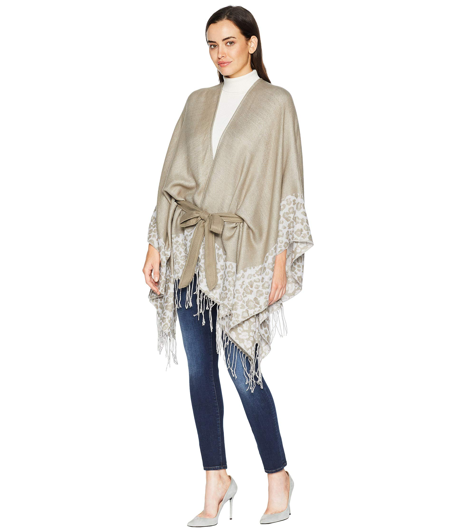 Belted Ivory Ruana Animal Xiix Collection zq4waa