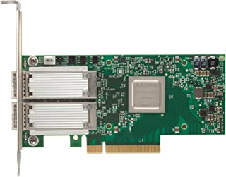 Mellanox Technologies MCX414A-GCAT CONNECTX-4 EN Network Interface Card, 50GBE Dual-Port QSFP28, PCIE3.0 X8, Tall B