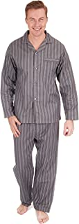 Men's Flannel Pyjama Set - Button Shirt and Trousers PJs