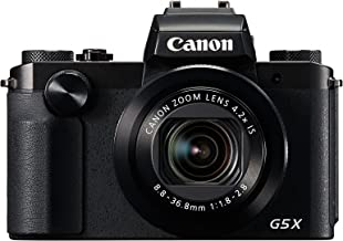 Canon PowerShot G5 X Digital Camera w/ 1 Inch Sensor and Built-in viewfinder - Wi-Fi & NFC Enabled (Black)