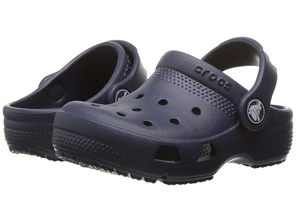 Crocs Kids Coast Clog (Toddler/Little Kid) (Navy) Kids Shoes