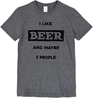 The Bold Banana I Like Beer and Maybe 3 People T-Shirt