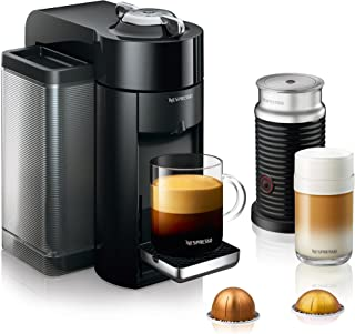 Nespresso by De'Longhi ENV135BAE Coffee and Espresso Machine Bundle with Aeroccino Milk Frother by De'Longhi, Black