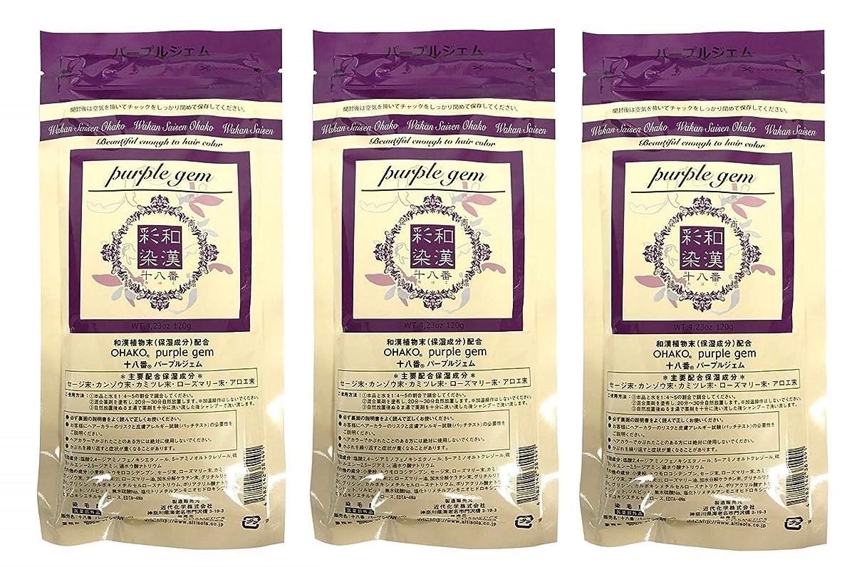 ピンチ森日の出【3個セット】グランデックス 和漢彩染 十八番 120g パープルジェム