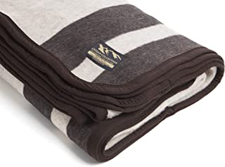 Desert Breeze Distributing Alpaca and Sheep Wool Blanket, Soft and Thick, King Size, 86 x 103 inches, Earth Tones with Brown Stripes, Andean Collection, Made in Peru