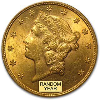 1850-1907 $20 Liberty Gold Double Eagle BU (Random Year) G$20 Brilliant Uncirculated