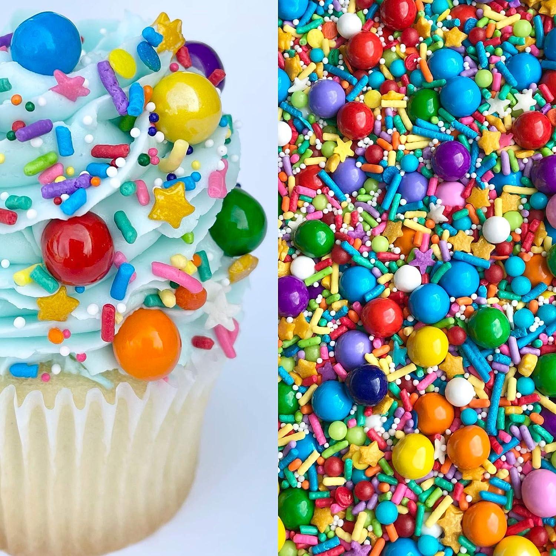 Sprinkles   Rainbow Sprinkle Mix   8 ounces   Cake Sprinkles   Manvscakes