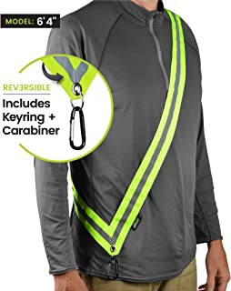 MOONSASH – USA Patented Reflective Sash > Night Safety Gear for Dog Walking + Commuters + Hiking + Bikes/Scooters… > Vest, Harness & Belt Alternative > Reversible, Comfortable, Practical & Stylish