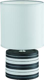 Reality Bague Lampe de Table halogène avec Interrupteur, 26cm de Haut, 14cm de diamètre, Noir