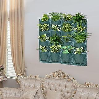 BenefitUSA Wall Pocket Planter 16 Pocket Vertical Wall Hanging Planting Bag Indoor Outdoor Plant Grow Bag 1 Pack