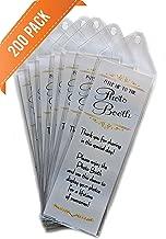 200 Premium Photo Booth Bookmark Sleeves 2 1/4