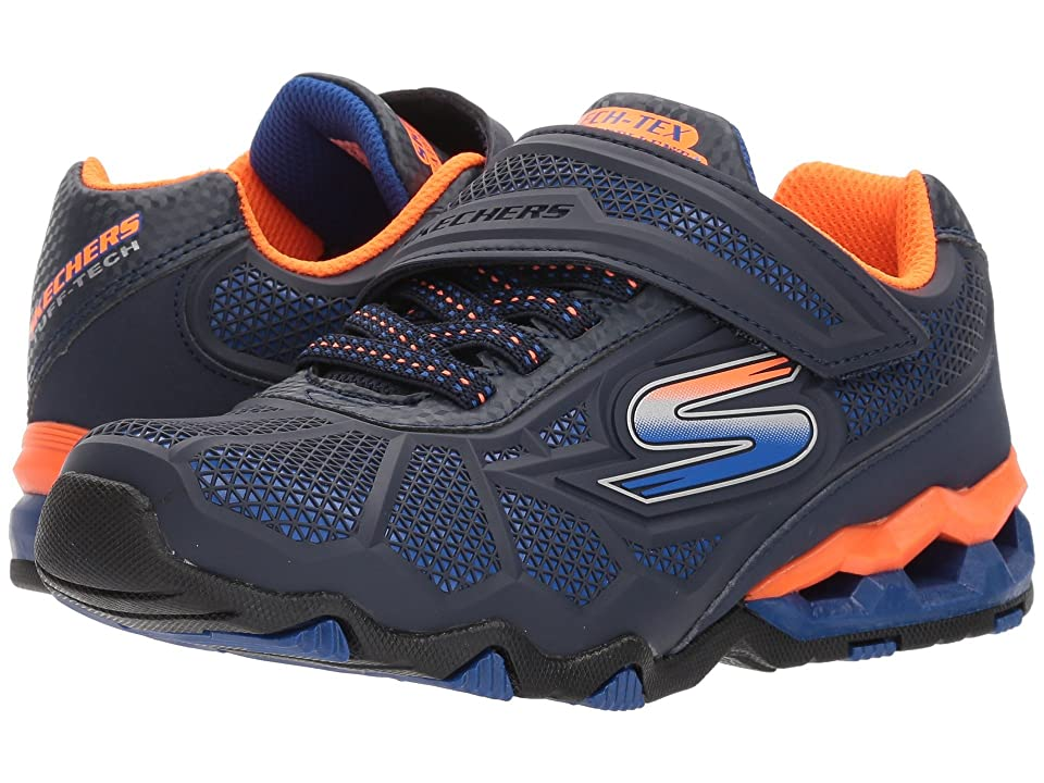 SKECHERS KIDS Hydro Static 97431L (Little Kid/Big Kid) (Navy/Orange) Boy