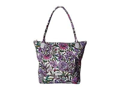 Vera Bradley Carson North/South Tote (Lavender Meadow) Tote Handbags
