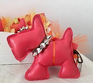 Bomboniere cagnolino SCOTTY Dog in similpelle colorata portachiavi comunione battesimo nascita bomboniera