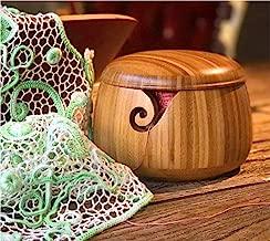 Trusafe Bamboo Yarn Bowl Knitting Accessories Yarn Holder Crochet Accessories Knitting Bowl (9