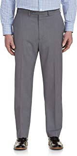 Geoffrey Beene Big and Tall Grid-Pattern Stretch Suit Pants