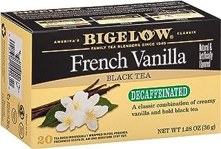 Bigelow Decaffeinated French Vanilla Black Tea Bags, 20 Count Box (Pack of 6) Decaf Black Tea, 120 Tea Bags Total