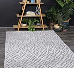 Home Culture Samba Peaks Grey Rug- Durable Rugs for Bedroom, Living Room, High Traffic Areas of Home and Office (80x150cm)