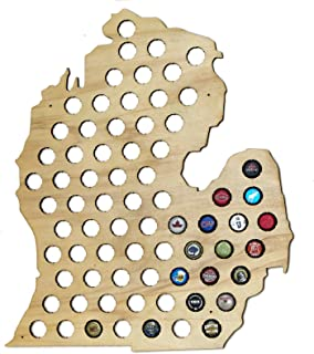 Ergode USA Beer Cap Map with Dark Stain Craft Beer Cap Holder for Beer Lovers and Beer Caps Collectors Craft Beer Cap Holder for Beer Lovers and Beer Cap/'s Collectors