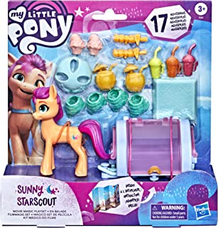My Little Pony: A New Generation Sunny Starscout Movie Magic Playset - 3-Inch Orange Pony Figure with 17 Accessories, Toy ...