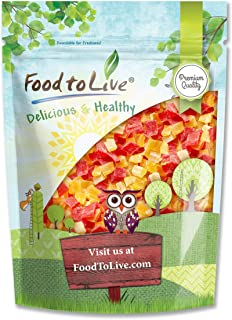 Diced Fruits Mix, 2 Pounds - Contains Dreid and Diced Mango, Pineapple, Papaya. Sweetened, Unsulfured, Candied Vegan Snack...