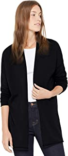Lightweight Mid-Thigh Open Cardigan 100% Pure Cashmere Long Sleeve Sweater for Women