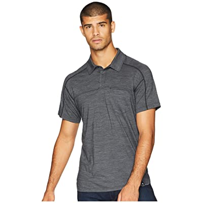 Smartwool Everyday Exploration Short Sleeve Polo (Charcoal) Men