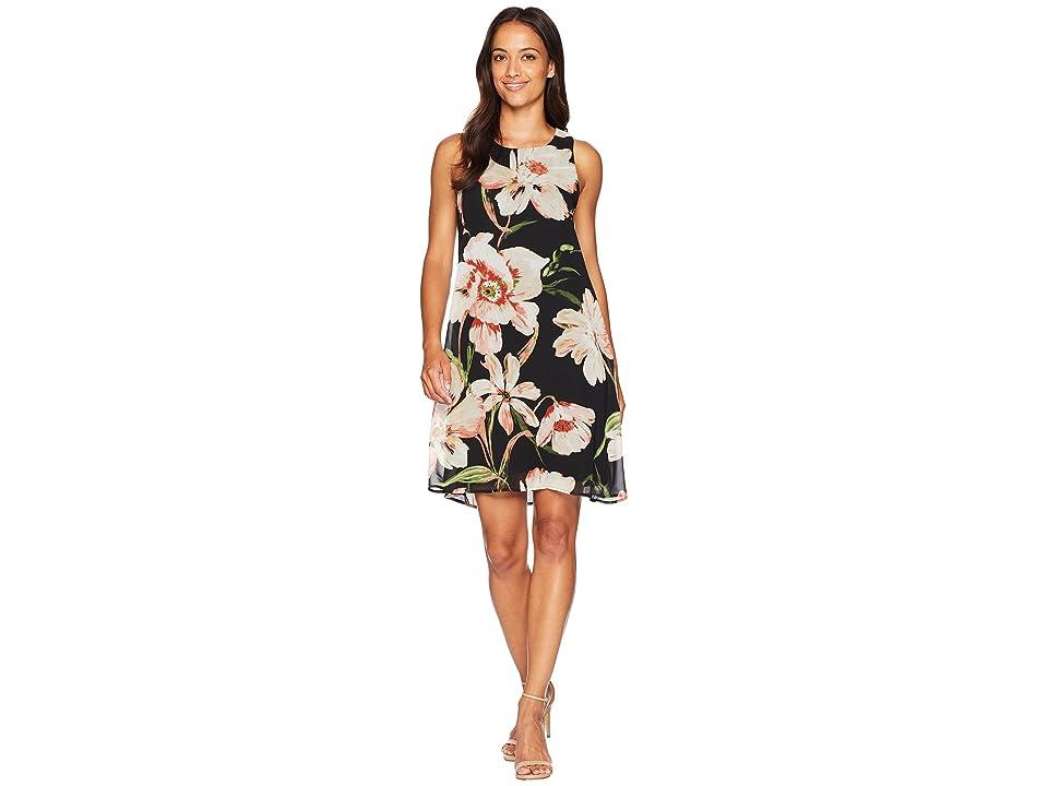 Karen Kane Sheer Floral Dress (Print) Women