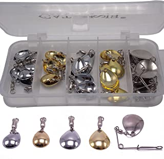 CATCHSIF 41pcs Spinner and Buzz baits Lure Blades with Ball Bearing swivels Fishing Tackle Box