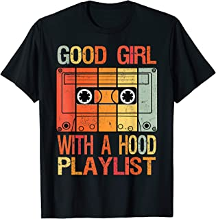Good Girl with a Hood Playlist Vintage 90s Cassette Tape T-Shirt