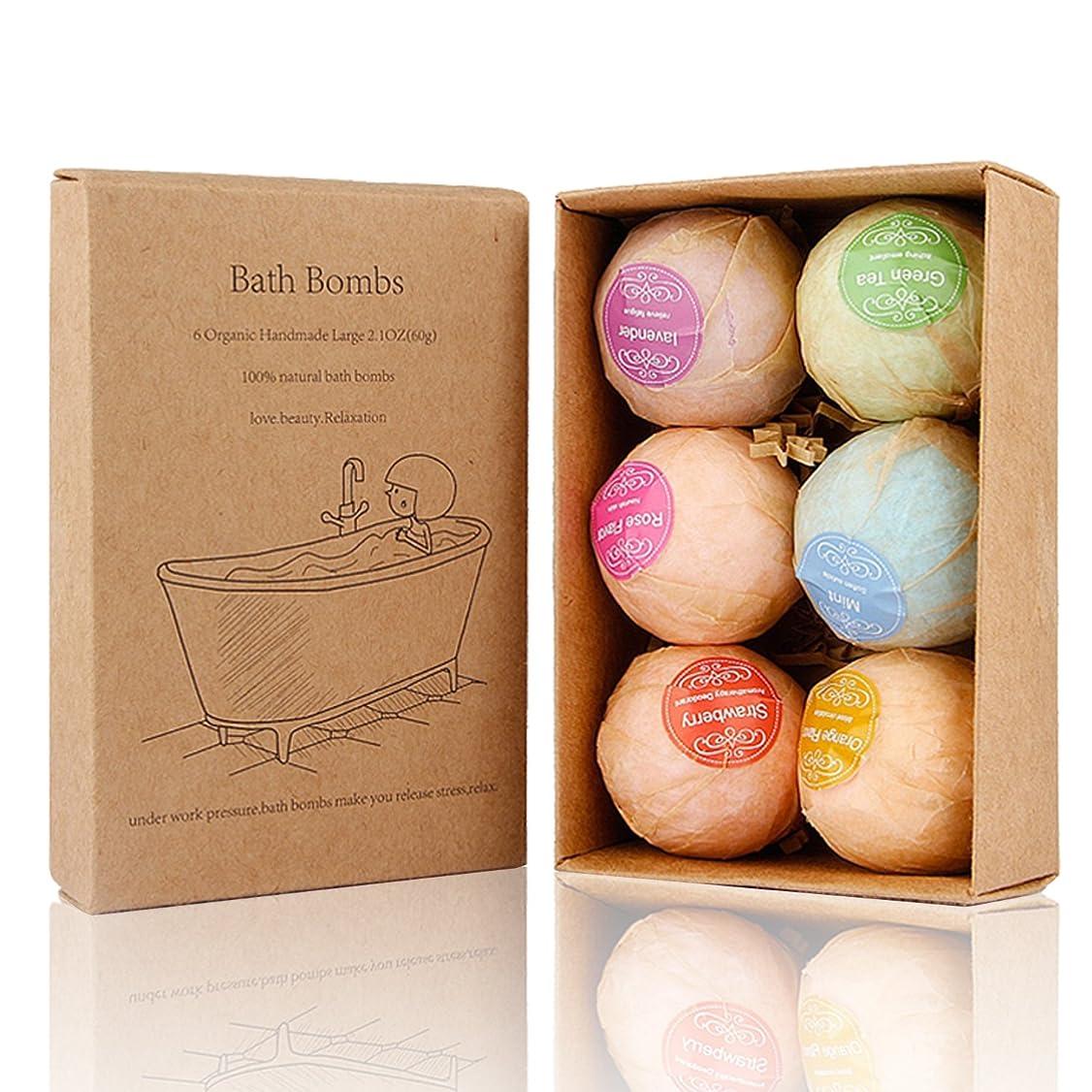 カウント試すデンプシーBath Bomb, 温泡 入浴剤 ギフトセット6個入り, Perfect for Bubble & Spa Bath Ultra Lush Bath Fizzies
