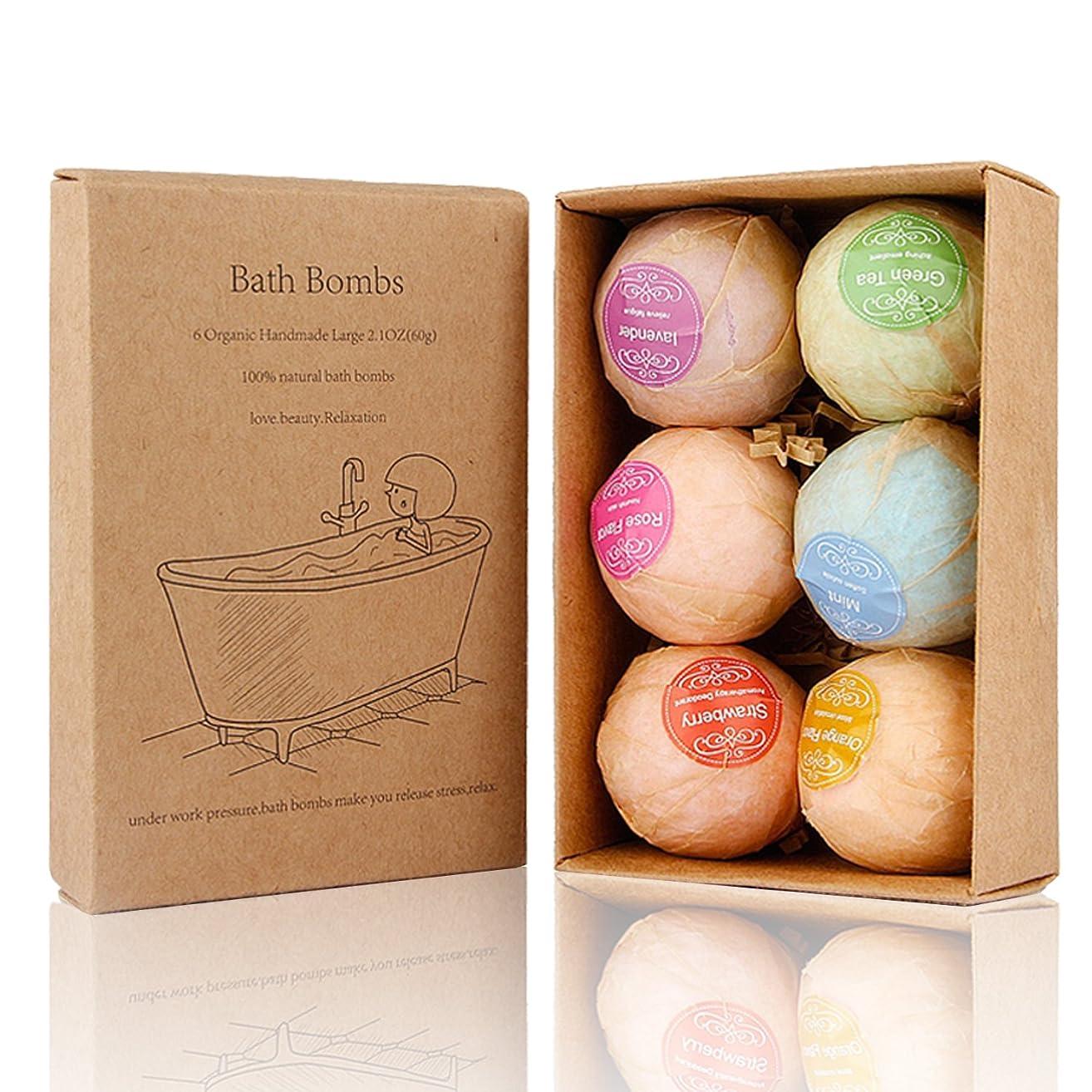 不運動員する任意Bath Bomb, 温泡 入浴剤 ギフトセット6個入り, Perfect for Bubble & Spa Bath Ultra Lush Bath Fizzies