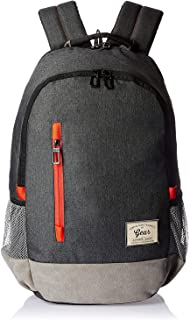 Gear Classic 30 Ltrs Charcoal Grey-Orange Casual Backpack (BKPCMPUS80406)