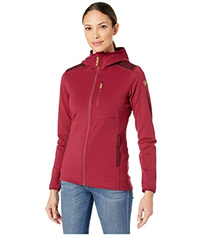 Fjallraven Keb Fleece Hoodie (Plum/Dark Garnet) Women