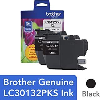 $40 » Brother Genuine LC30132PKS 2-Pack High Yield Black Ink Cartridges, Page Yield Up to 400 Pages/Cartridge, LC3013