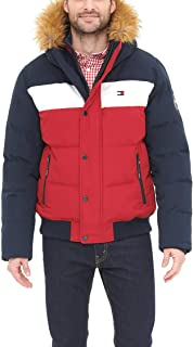 Men's Quilted Arctic Cloth Snorkel Bomber Jacket with Removable Hood (Standard and Big & Tall)