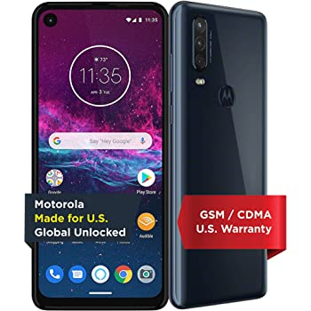 Motorola One Action with Alexa Push-to-Talk - Unlocked Smartphone - Global Version - 128GB - Denim (US Warranty) - Verizon, AT&T, T-Mobile, Sprint, Boost, Cricket, & Metro