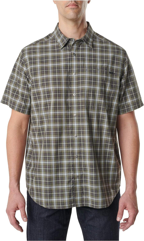 5.11 Tactical Mens Hunter Plaid Short-Sleeve Shirt