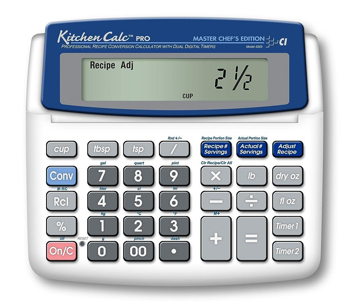 登山家策定する侵入するCalculated Industries KitchenCalc 8305 PRO Master Chef Edition レシピ変換計算機 デュアルデジタルタイマー付き Calculated Industries製