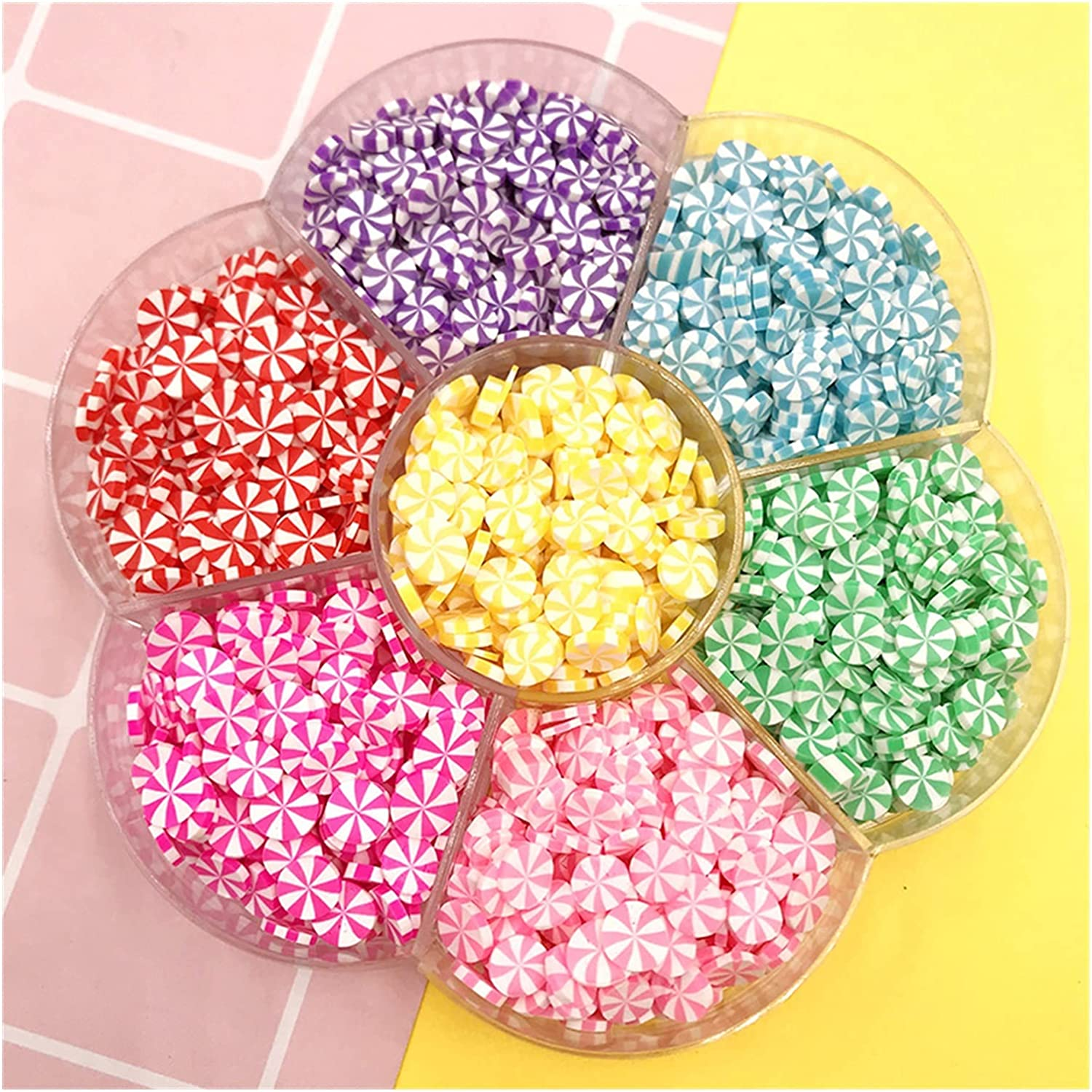 WEIMEIDA MJZS908 1Box 5mm Super Special SALE held Mix Heart Clay Candy Polymer Spri Star New mail order