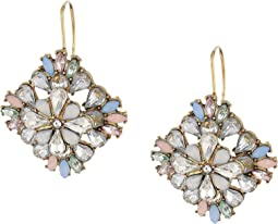 Floral Jeweled Statement Earrings