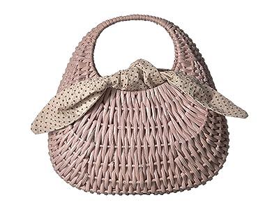 Loeffler Randall Lorna Wicker Tote (Beach/Cream) Tote Handbags