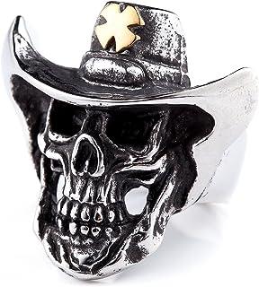 مجوهرات ZMY Home الأصلية من الفولاذ المقاوم للصدأ خاتم مجوهرات للرجال أزياء Punk Biker Skull Rings