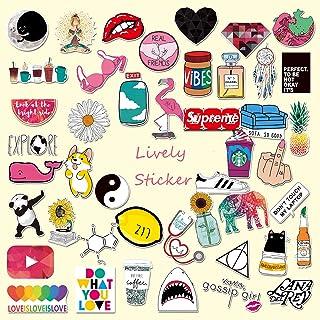CHSTAR Cartoon Water Bottles Stickers, Cute Laptop Stickers for Hydro Flask,Guitar,Bike,Skateboard,Computer Stickers Waterproof Vinyl Decals Stickers, Best Gift for Adult,Children,Teen 45pcs Pack.