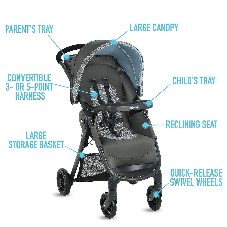 Graco FastAction SE Travel System   Includes FastAction SE Stroller and SnugRide 30 LX Infant Car Seat, Carbie