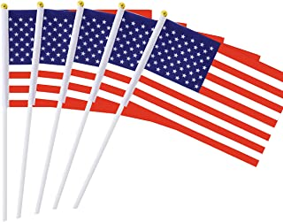 Best 25 Pack Hand Held Small Mini Flag USA US Flag American Flag Stick Flag Round Top National Country Flags,Party Decorations Supplies For Parades,World Cup,Festival Events ,International Festival Reviews