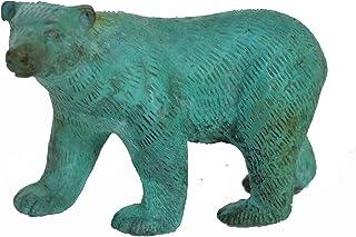 Aakrati Sky Blue Brass 4 inch Small Cute Polar Bear for Gifting or Home Décor or Office Décor